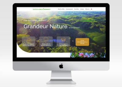 Site web Les éco-logis d'Ensarnaut
